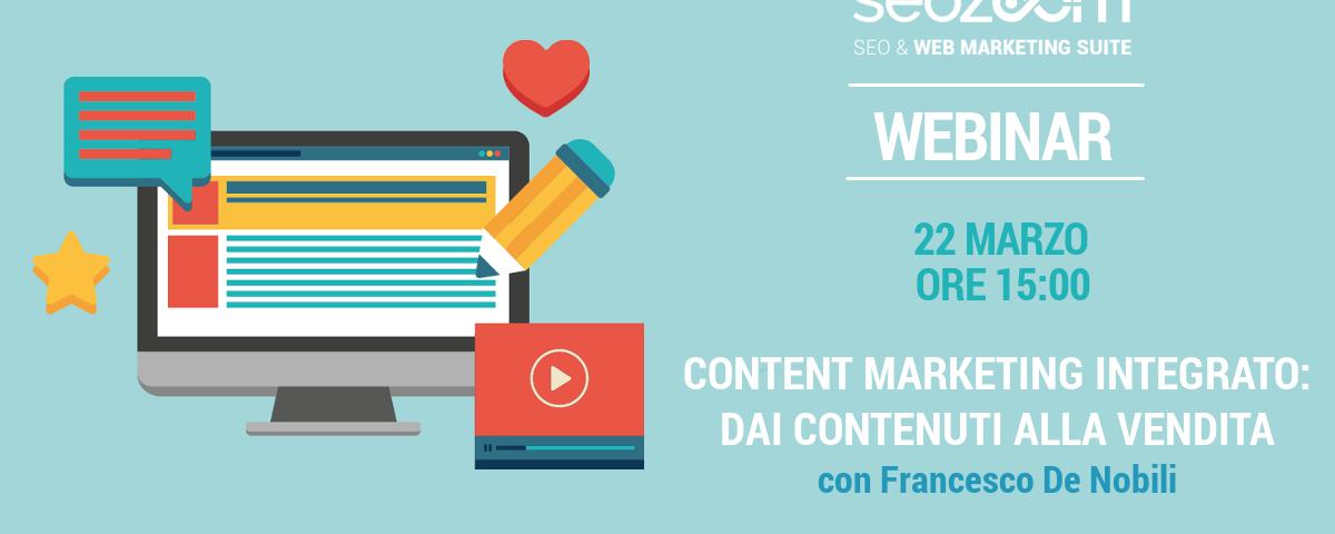 Webinar: Content marketing integrato, dai contenuti alla vendita