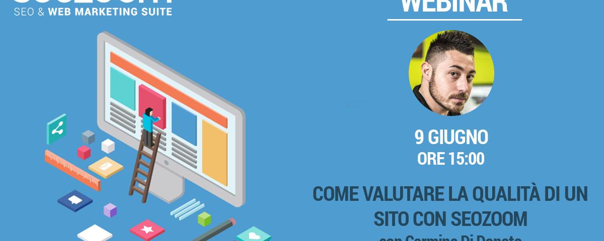 Webinar su SEOZoom: Come valutare la qualità di un sito