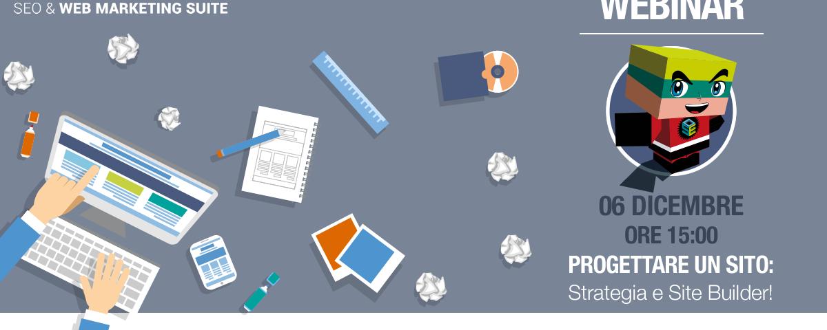 Webinar: Progettare un sito – Strategia e Site Builder