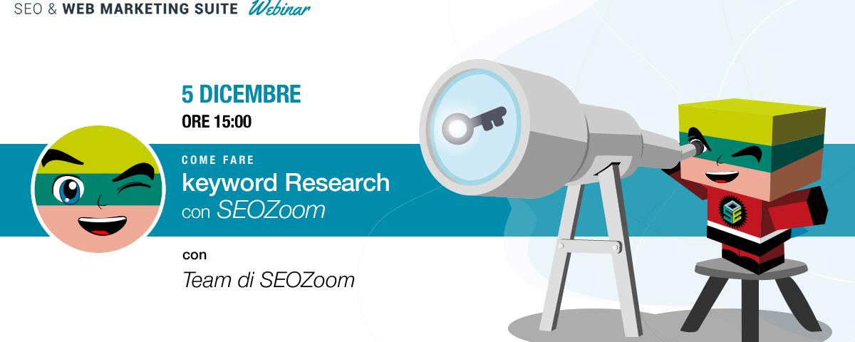 Webinar su SEOZoom: Tool sulla Keyword Research