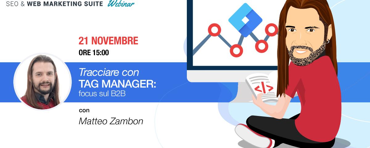 Webinar: Tracciare con Tag Manager: focus sul B2B