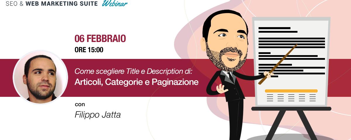 Webinar: Come scegliere Title e Description di Articoli e Pagine
