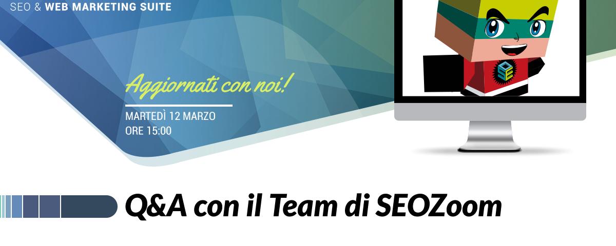 Webinar: Q&A con il team di SEOZoom