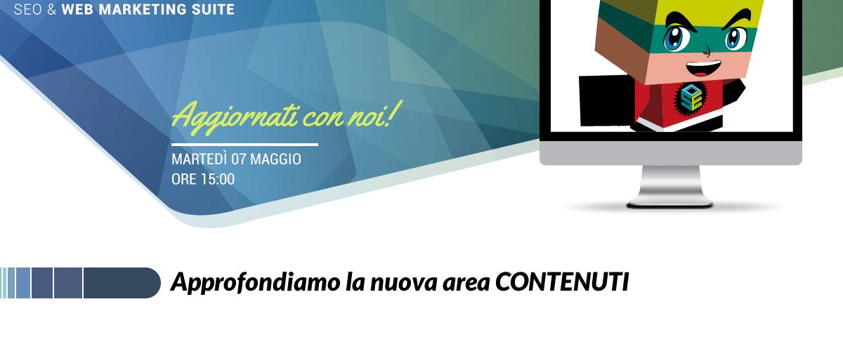Webinar: Approfondiamo la nuova area CONTENUTI