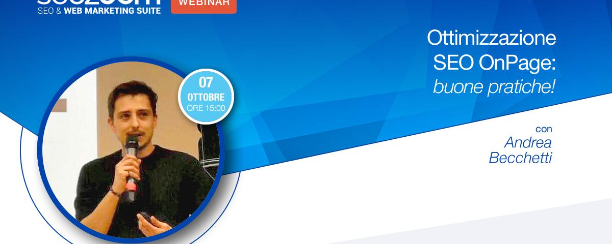 Webinar: Ottimizzazione SEO OnPage, buone pratiche